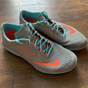 Nike | FS Lite Run 2 Sneakers Teal/Gray/Orange